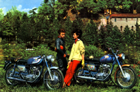 Franco Farne and an Italian Woman - oh yeah, check out the bikes....