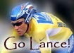 Lance Armstrong - my personal hero - going for his 7th win in the 2005 Tour De France - GO LANCE GO -